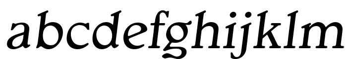 OPTIGargoyle-Italic Font LOWERCASE