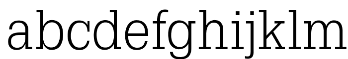 OPTIGleam-Light Font LOWERCASE