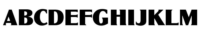 OPTIGlobeGothic-Bold Font UPPERCASE