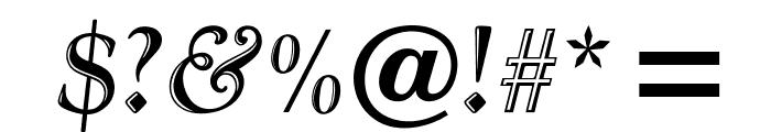 OPTIGoudyHandTooled-Italic Font OTHER CHARS