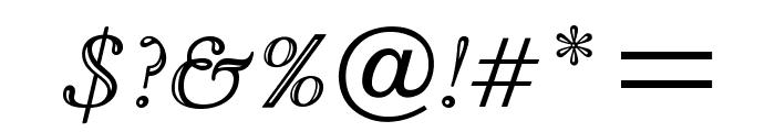 OPTIGoudyOpen-Italic Font OTHER CHARS
