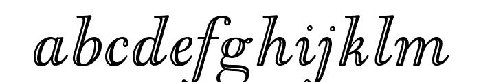OPTIGoudyOpen-Italic Font LOWERCASE