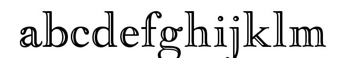 OPTIGoudyOpen Font LOWERCASE