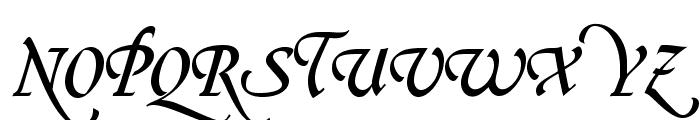 OPTIGreig-SwashSupplement Font UPPERCASE