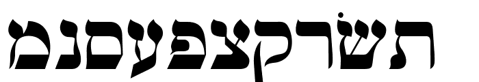 OPTIHebrew-One Font UPPERCASE