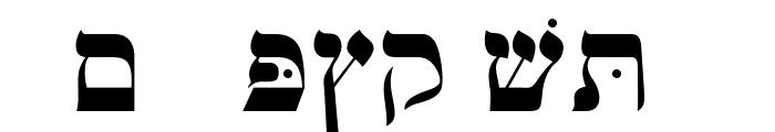 OPTIHebrew-One Font LOWERCASE