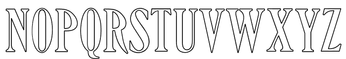 OPTIHowland-Open Font UPPERCASE