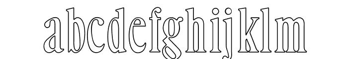 OPTIHowland-Open Font LOWERCASE