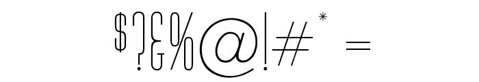 OPTIHuxley-Vertical Font OTHER CHARS