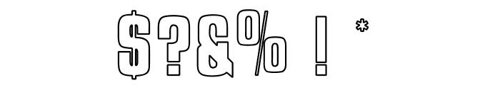 OPTIJaffaGothicBold-Outline Font OTHER CHARS