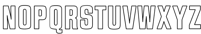 OPTIJaffaGothicBold-Outline Font UPPERCASE