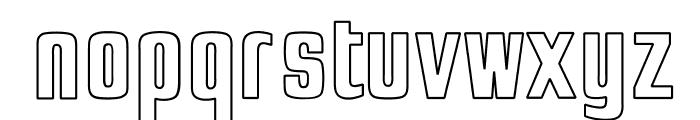 OPTIJaffaGothicBold-Outline Font LOWERCASE