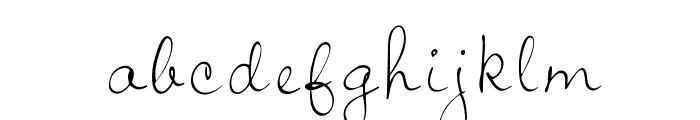 OPTIJiffy Font LOWERCASE