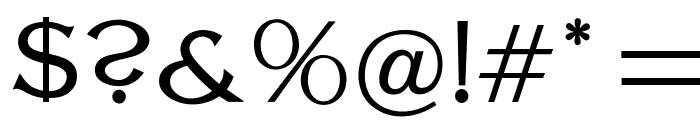 OPTILagoon-Light Font OTHER CHARS