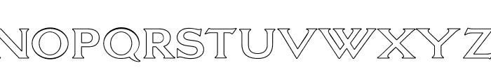 OPTILagoon-Open Font UPPERCASE