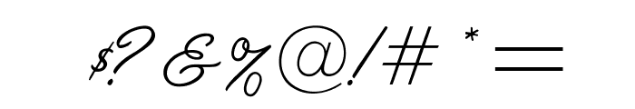 OPTILariatScript Font OTHER CHARS