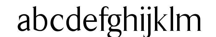 OPTILawrence Font LOWERCASE