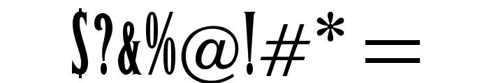 OPTILeLatin-NoirEtroit Font OTHER CHARS