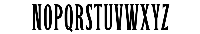 OPTILeLatin-NoirEtroit Font UPPERCASE