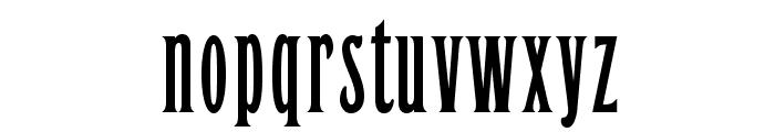 OPTILeLatin-NoirEtroit Font LOWERCASE