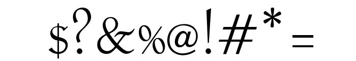OPTILocca-Light Font OTHER CHARS