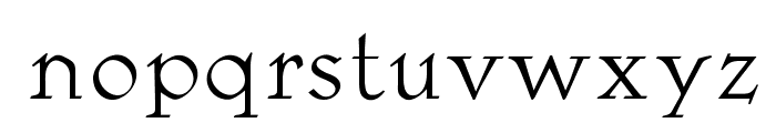 OPTILocca-Light Font LOWERCASE