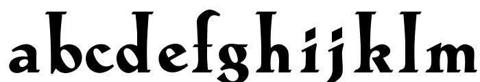 OPTILoccaExtra-Bold Font LOWERCASE
