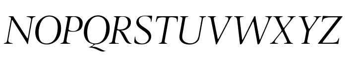 OPTILondon-Italic Font UPPERCASE