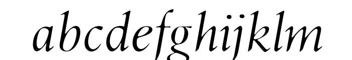 OPTILondon-Italic Font LOWERCASE