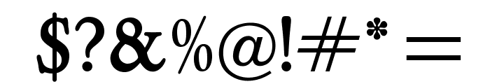 OPTILothario-Medium Font OTHER CHARS