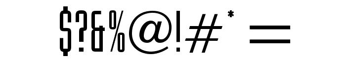 OPTIMercenaryFive Font OTHER CHARS