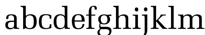 OPTIMill Font LOWERCASE