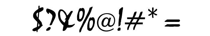 OPTIMistral-Graff Font OTHER CHARS
