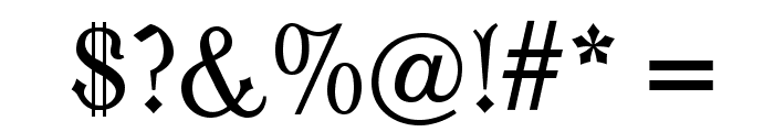 OPTIModern-Blackletter Font OTHER CHARS