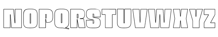 OPTINatty-BoldOutline Font UPPERCASE