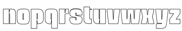 OPTINatty-BoldOutline Font LOWERCASE