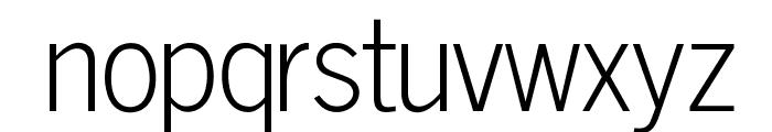 OPTINewsGothicLight Font LOWERCASE