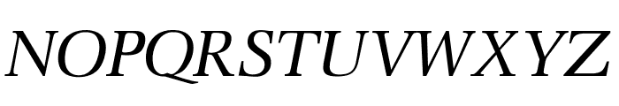 OPTIOcean-Italic Font UPPERCASE