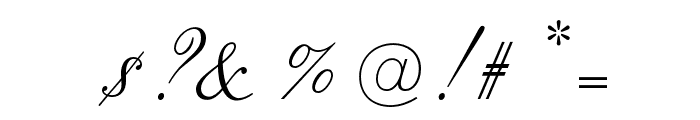 OPTIOldFashioned-Script Font OTHER CHARS