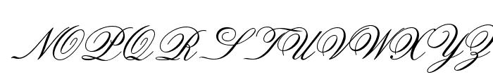 OPTIOldFashioned-Script Font UPPERCASE