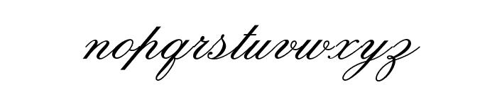 OPTIOldFashioned-Script Font LOWERCASE