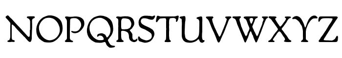 OPTIPackard-C Font UPPERCASE