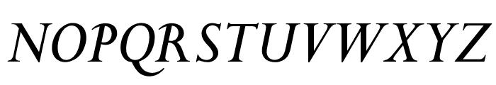 OPTIPapong-Italic Font UPPERCASE