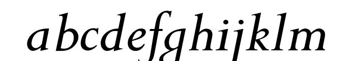 OPTIPapong-Italic Font LOWERCASE