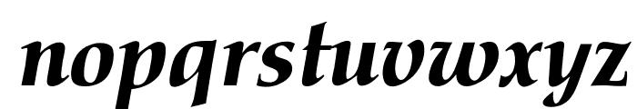 OPTIPathway-ExtraBoldIta Font LOWERCASE