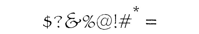 OPTIPaulDavid Font OTHER CHARS