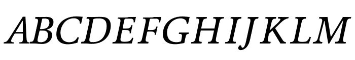 OPTIPeach-Italique Font UPPERCASE