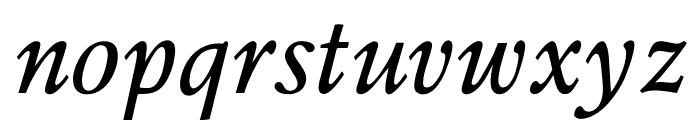 OPTIPeach-Italique Font LOWERCASE