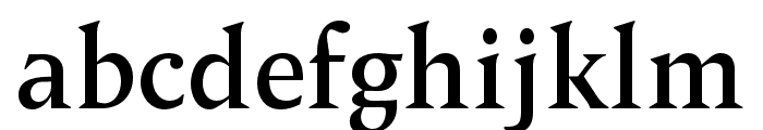 OPTIPegasus-Semibold Font LOWERCASE