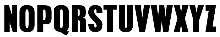 OPTIPilsenBold-Cond Font UPPERCASE